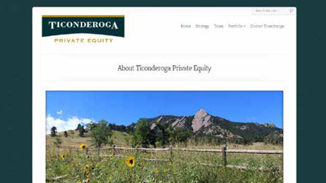 Ticonderoga Private Equity - website by Ladder Creative